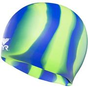 TYR WRINKLE-FREE SILICONE ADULT SWIM CAP 310:GREEN