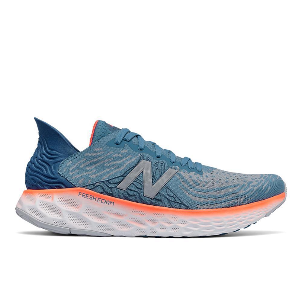 New Balance Mens Fresh Foam 1080v10 Running Shoes Light Blue/Dynamite