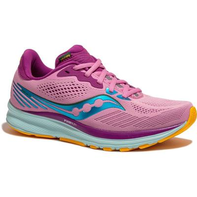 SAUCONY WOMEN'S RIDE 14 RUNNING SHOES - FUTURE PINK