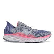 NEW BALANCE WOMEN`S FRESH FOAM 1080V10 RUNNING SHOES - STEEL/MAGNETIC BLUE B.STEEL.MAGNETIC.BLU
