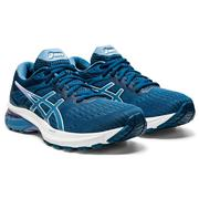 ASICS WOMEN`S GT-2000 9 RUNNING SHOES - MAKO BLUE/GREY FLOSS