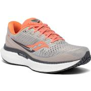 SAUCONY WOMEN`S TRIUMPH 18 RUNNING SHOES - WIDE (D) - MOONROCK/CORAL MOONROCK.CORAL