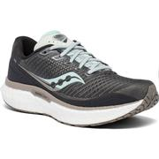 SAUCONY WOMEN`S TRIUMPH 18 RUNNING SHOES - WIDE (D) - CHARCOAL/SKY