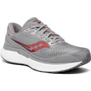 SAUCONY MEN`S TRIUMPH 18 RUNNING SHOES - WIDE (2E) - ALLOY/RED ALLOY.RED