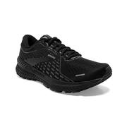 BROOKS WOMEN`S ADRENALINE GTS 21 RUNNING SHOES - WIDE (D) - BLACK/BLACK/EBONY