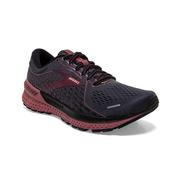 BROOKS WOMEN`S ADRENALINE GTS 21 RUNNING SHOES - WIDE (D)- BLACK/BLACKENED PEARL