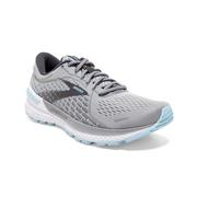 BROOKS WOMEN`S ADRENALINE GTS 21 RUNNING SHOES - EXTRA WIDE (2E) - OYSTER/ALLOY 061.OYSTER.ALLOY.BLU