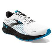 BROOKS MEN`S ADRENALINE GTS 21 RUNNING SHOES - WHITE/GREY/ATOMIC BLUE