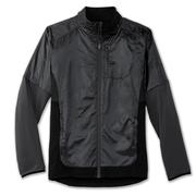 BROOKS MEN`S FUSION HYBRID JACKET - ASPHALT/BLACK 012.ASPHALT.BLACK
