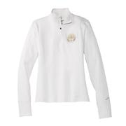 BROOKS WOMEN`S DASH 1/2 ZIP TOP - VICTORY COLLECTION - WHITE/TEAM BROOKS