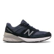 NEW BALANCE WOMEN`S 990V5 RUNNING SHOES - NARROW (2A) - NAVY/SILVER