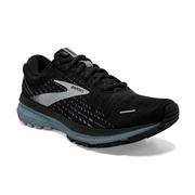 BROOKS MEN`S GHOST 13 RUNNING SHOES - BLACK/GREY/STORMY