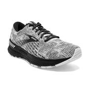 BROOKS MEN`S ADRENALINE GTS 21 RUNNING SHOES - WHITE/GREY/BLACK