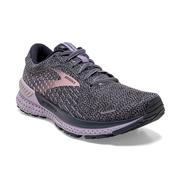 BROOKS WOMEN`S ADRENALINE GTS 21 RUNNING SHOES - WIDE (D) - OMBRE/LAVENDER/METAL
