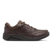 NEW BALANCE MEN`S LEATHER 928V3 WALKING SHOES - WIDE (2E) - BROWN/BROWN