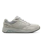 NEW BALANCE MEN`S SUEDE 928V3 WALKING SHOES - 2X WIDE (6E) - GREY/WHITE GY.GREY.WHITE
