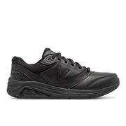 NEW BALANCE WOMEN`S LEATHER 928V3 WALKING SHOES - BLACK/BLACK