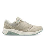 NEW BALANCE WOMEN`S LEATHER 928V3 WALKING SHOES - WIDE (D) - GREY/GREY