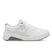 NEW BALANCE WOMEN`S LEATHER 928V3 WALKING SHOES - WHITE/BLUE