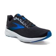 BROOKS MEN`S LAUNCH 8 RUNNING SHOES - BLACK/GREY/BLUE