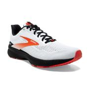 BROOKS MEN`S LAUNCH 8 RUNNING SHOES - WHITE/BLACK/RED CLAY
