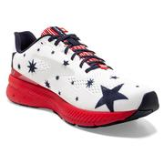 BROOKS MEN`S LAUNCH 8 RUNNING SHOES - RUN USA COLLECTION - BLUE/RED/SILVER
