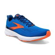 BROOKS MEN`S LAUNCH 8 RUNNING SHOES - BLUE/ORANGE/WHITE