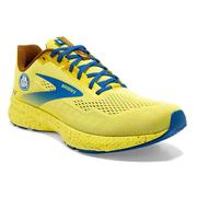 BROOKS MEN`S LAUNCH 8 RUNNING SHOES - RUN HAPPY LIMITED EDITION - GOLDEN KIWI