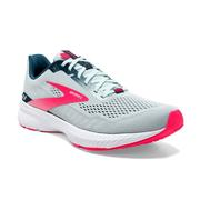 BROOKS WOMEN`S LAUNCH 8 RUNNING SHOES - ICE FLOW/NAVY/PINK 110.ICE.NAVY.PINK