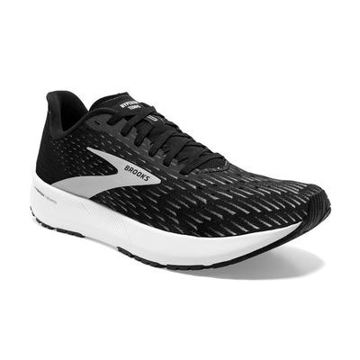 BROOKS MEN`S HYPERION TEMPO RUNNING SHOES - BLACK/SILVER/WHITE