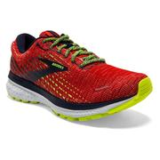 BROOKS MEN`S GHOST 13 RUNNING SHOES - PIXEL PACK - TOMATO/NAVY/NIGHTLIFE