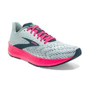 BROOKS WOMEN`S HYPERION TEMPO RUNNING SHOES - ICE FLOW/NAVY/PINK 110.ICE.NAVY.PINK
