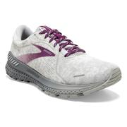BROOKS WOMEN`S ADRENALINE GTS 21 RUNNING SHOES - ABSTRACT PACK - WHITE/OYSTER 134.WHITE.OYSTER.GRY