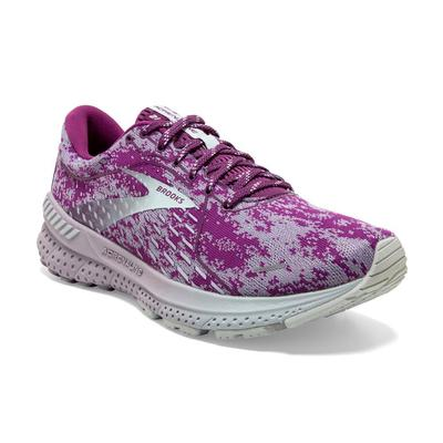 BROOKS WOMEN`S ADRENALINE GTS 21 RUNNING SHOES - ABSTRACT PACK - WOOD VIOLET