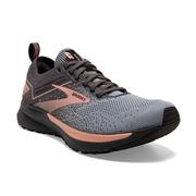 BROOKS WOMEN`S RICOCHET 3 RUNNING SHOES - METALLICS COLLECTION - GREY/BLACK/ROSE