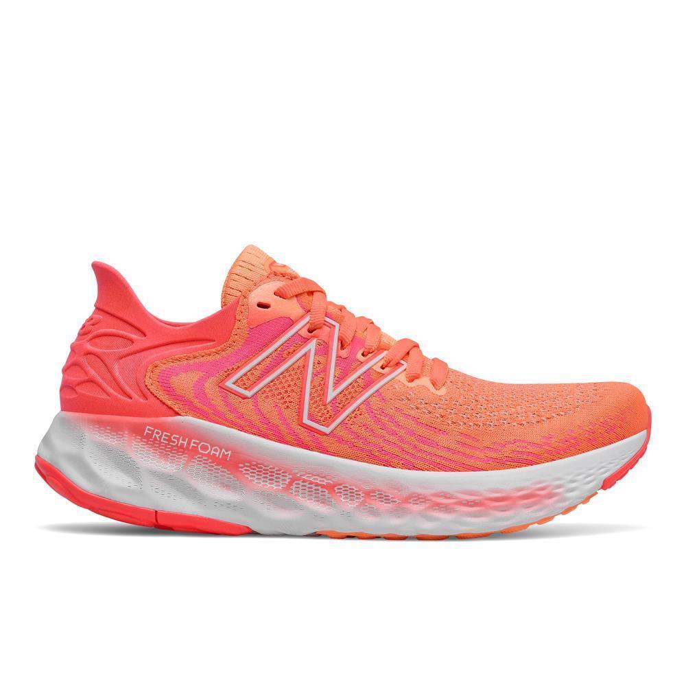 New Balance Womens Fresh Foam 1080v11 Running Shoes Citrus Punch/Vivid Coral Omega Sports