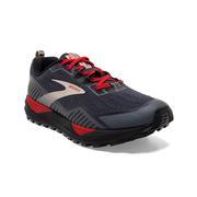 BROOKS MEN`S CASCADIA 15 GTX GORETEX TRAIL RUNNING SHOES - BLACK/EBONY/RED