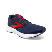 BROOKS MEN`S RANGE RUNNING SHOES - PEACOAT/FIERY RED