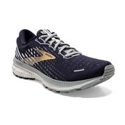 BROOKS MEN`S GHOST 13 RUNNING SHOES - PEACOAT/GREY/GOLD