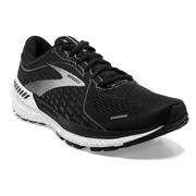 BROOKS MEN`S ADRENALINE GTS 21 RUNNING SHOES - WIDE (2E) - BLACK PEARL/WHITE