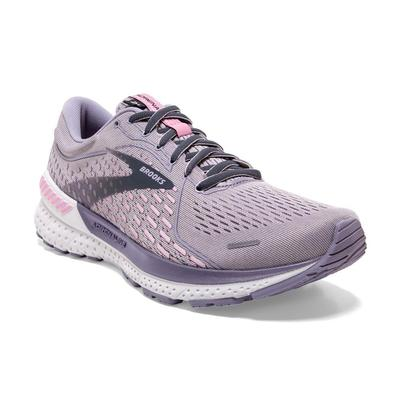 BROOKS WOMEN`S ADRENALINE GTS 21 RUNNING SHOES - IRIS/LILAC SCACHET/OMBRE BLUE