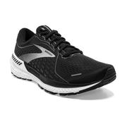 BROOKS WOMEN`S ADRENALINE GTS 21 RUNNING SHOES - WIDE (D) - BLACK PEARL/WHITE 033.BLACK.PEARL.WHT