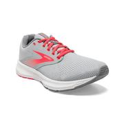 BROOKS WOMEN`S RANGE RUNNING SHOES - OYSTER MUSHROOM/ALLOY/FIERY CORAL 055.OYSTER.ALLOY.COR