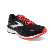BROOKS WOMEN`S GHOST 13 RUNNING SHOES - BLACK/EBONY/CORAL