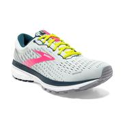 BROOKS WOMEN`S GHOST 13 RUNNING SHOES - ICE FLOW/PINK/POND 154.ICE.PINK.POND