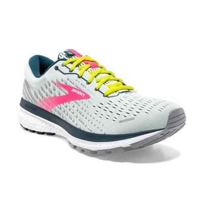 BROOKS WOMEN`S GHOST 13 RUNNING SHOES - ICE FLOW/PINK/POND
