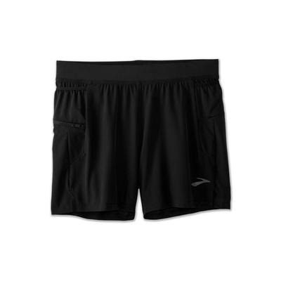 BROOKS MEN`S SHERPA 5-INCH 2-IN-1 SHORT - BLACK