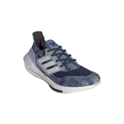 ADIDAS MEN`S ULTRABOOST 21 PRIMEBLUE RUNNING SHOES - CREW BLUE/WHITE/CREW NAVY