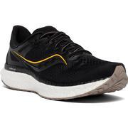 SAUCONY MEN'S HURRICANE 23 RUNNING SHOES - BLACK/VIZI GOLD