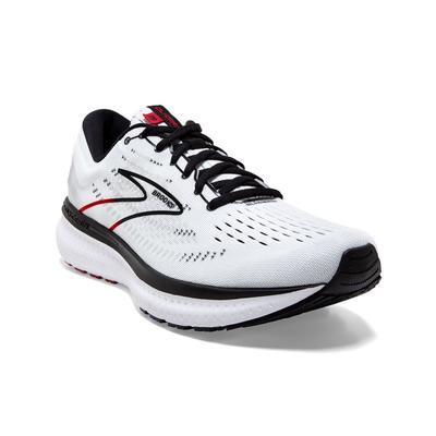 BROOKS MEN`S GLYCERIN 19 RUNNING SHOES - WHITE/BLACK/RED